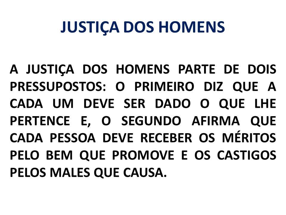 JUSTIÇA DOS HOMENS