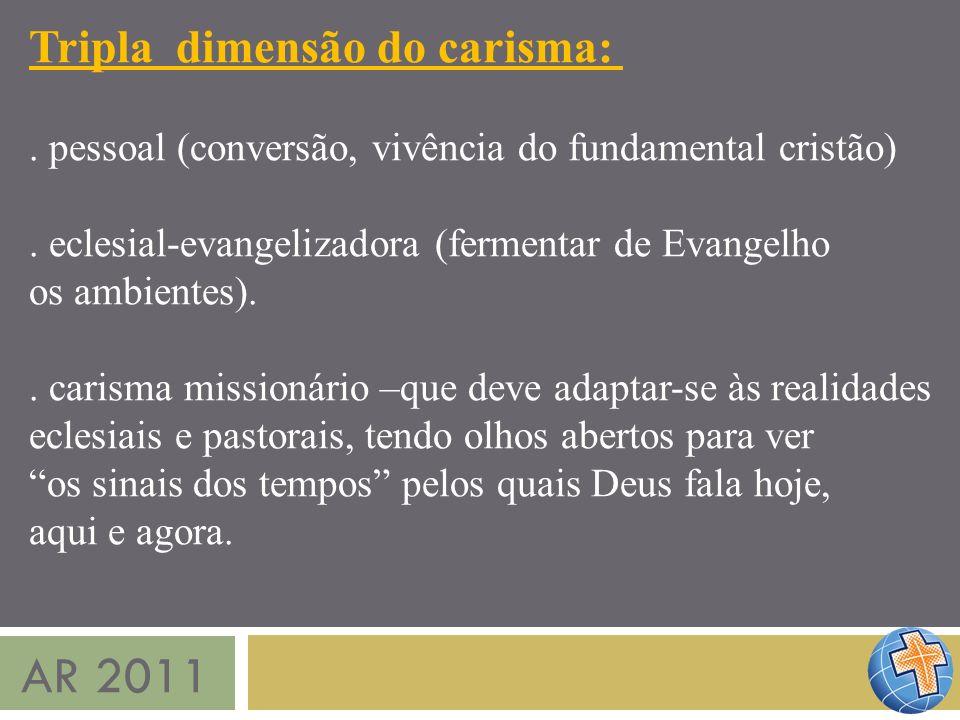 AR 2011 Tripla dimensão do carisma: