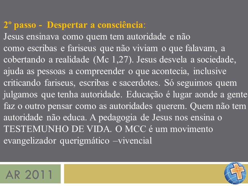 AR 2011 2º passo - Despertar a consciência: