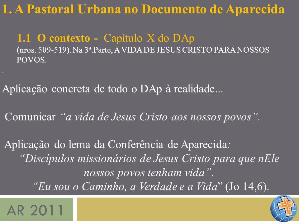 AR 2011 1. A Pastoral Urbana no Documento de Aparecida