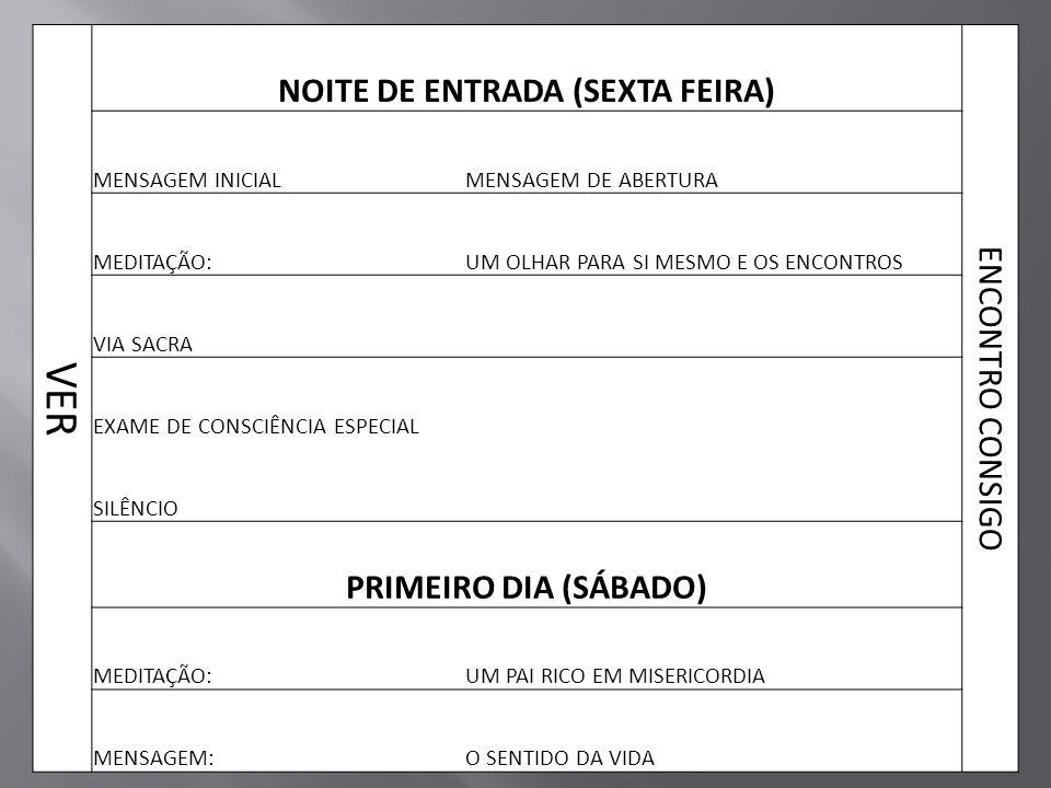 NOITE DE ENTRADA (SEXTA FEIRA)