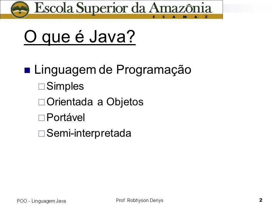 O que é Java Linguagem de Programação Simples Orientada a Objetos
