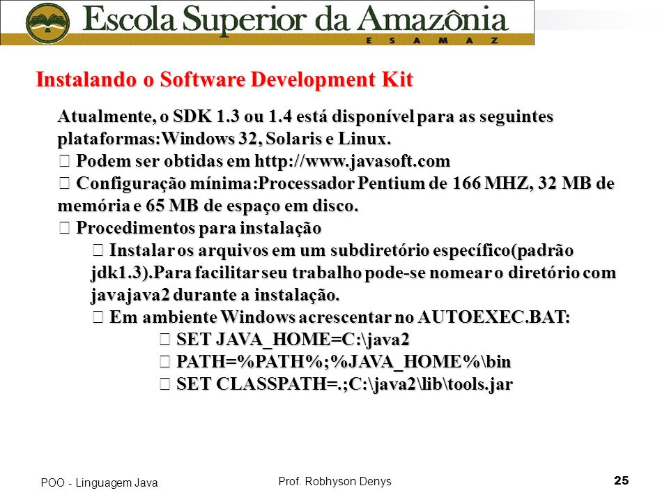 Instalando o Software Development Kit