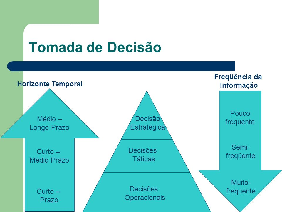 Tomada de Decisão Freqüência da Informação Horizonte Temporal