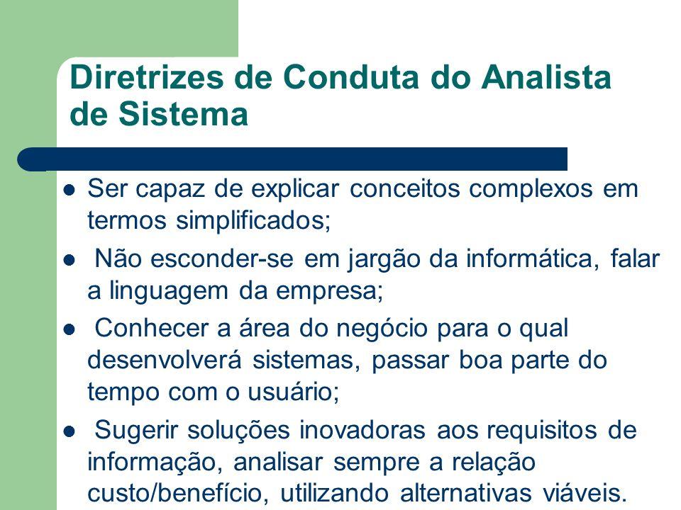 Diretrizes de Conduta do Analista de Sistema