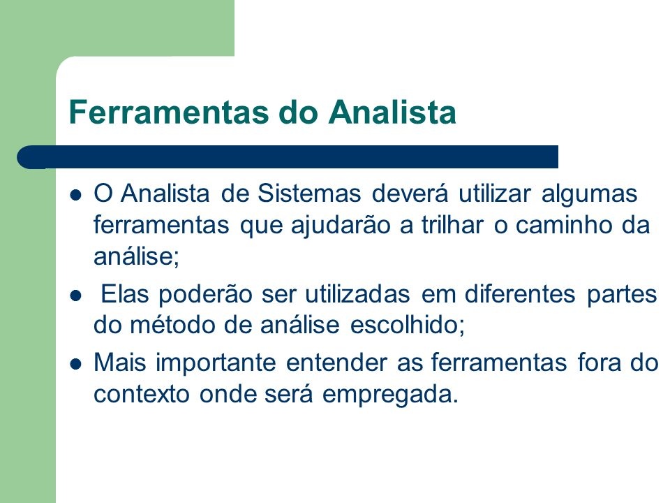 Ferramentas do Analista