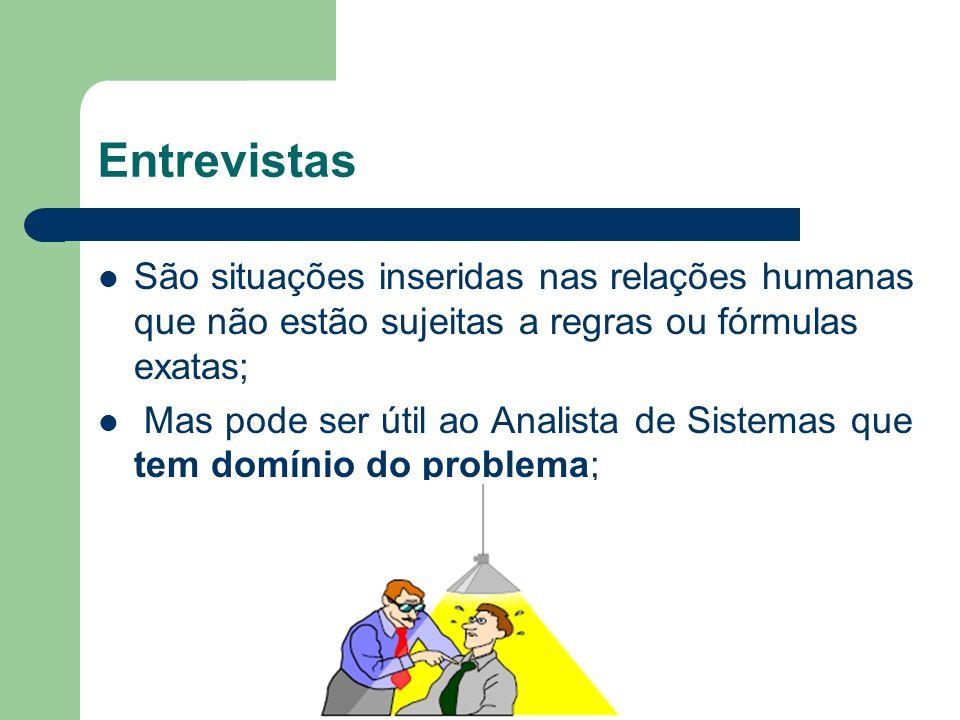 Entrevistas São situações inseridas nas relações humanas que não estão sujeitas a regras ou fórmulas exatas;