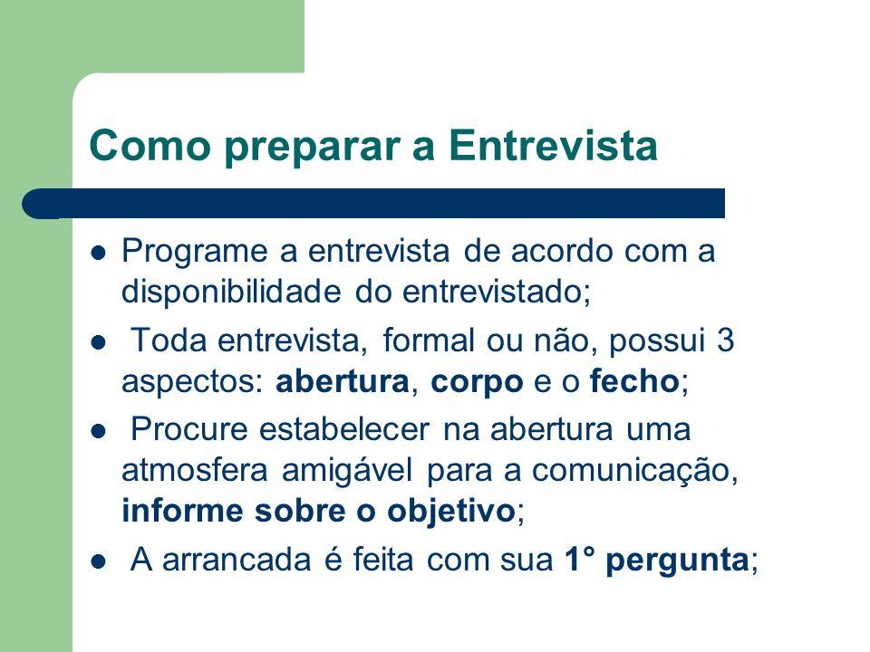 Como preparar a Entrevista