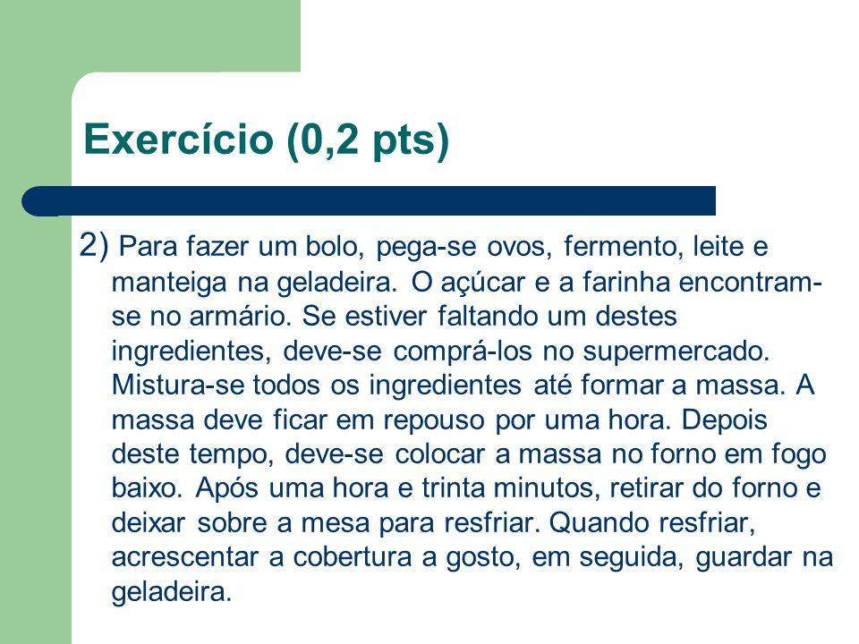 Exercício (0,2 pts)
