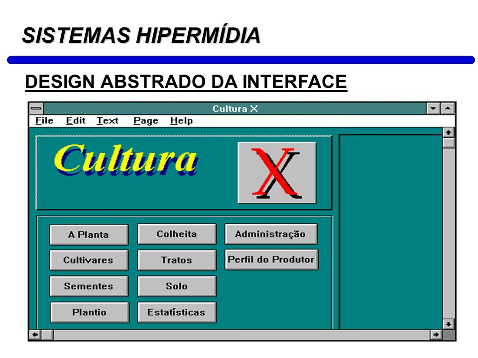 SISTEMAS HIPERMÍDIA DESIGN ABSTRADO DA INTERFACE