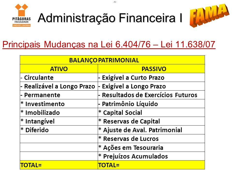 Administração Financeira I