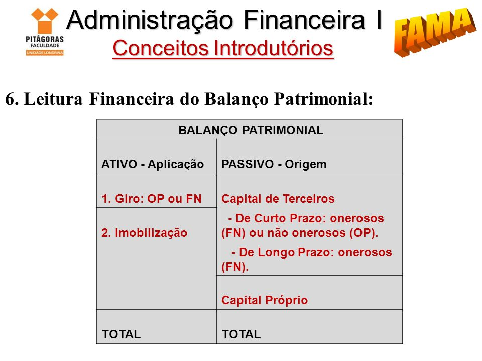 Administração Financeira I Conceitos Introdutórios