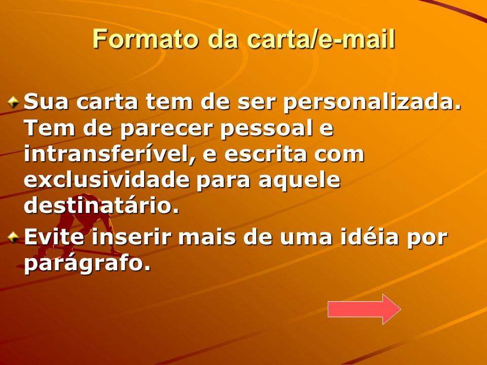 Formato da carta/e-mail