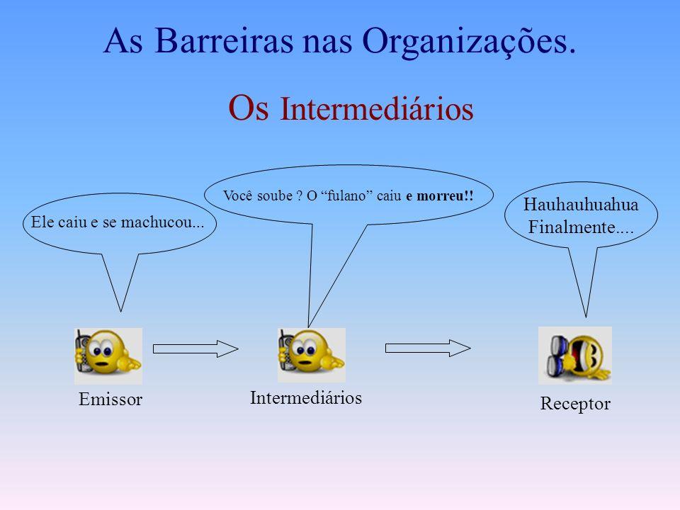 As Barreiras nas Organizações.