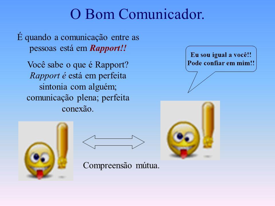 É quando a comunicação entre as pessoas está em Rapport!!