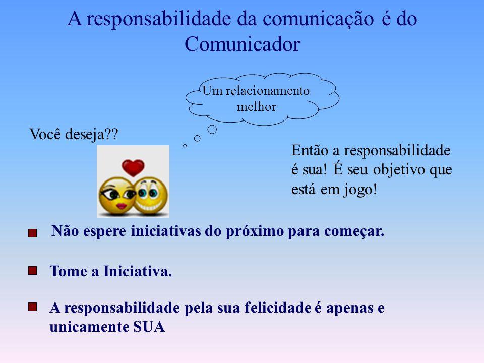 A responsabilidade da comunicação é do Comunicador