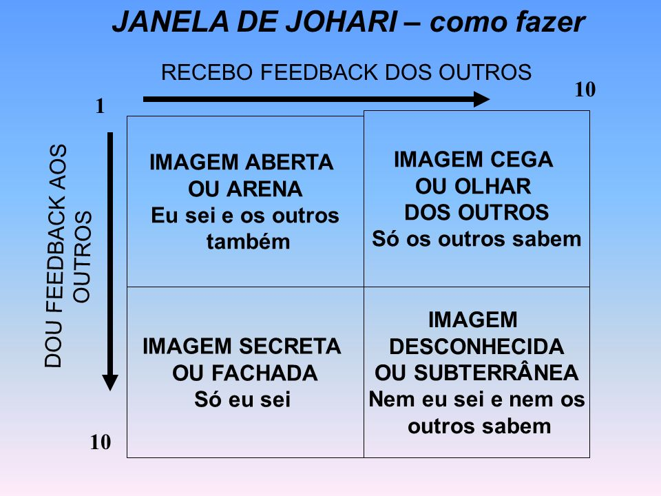 JANELA DE JOHARI – como fazer
