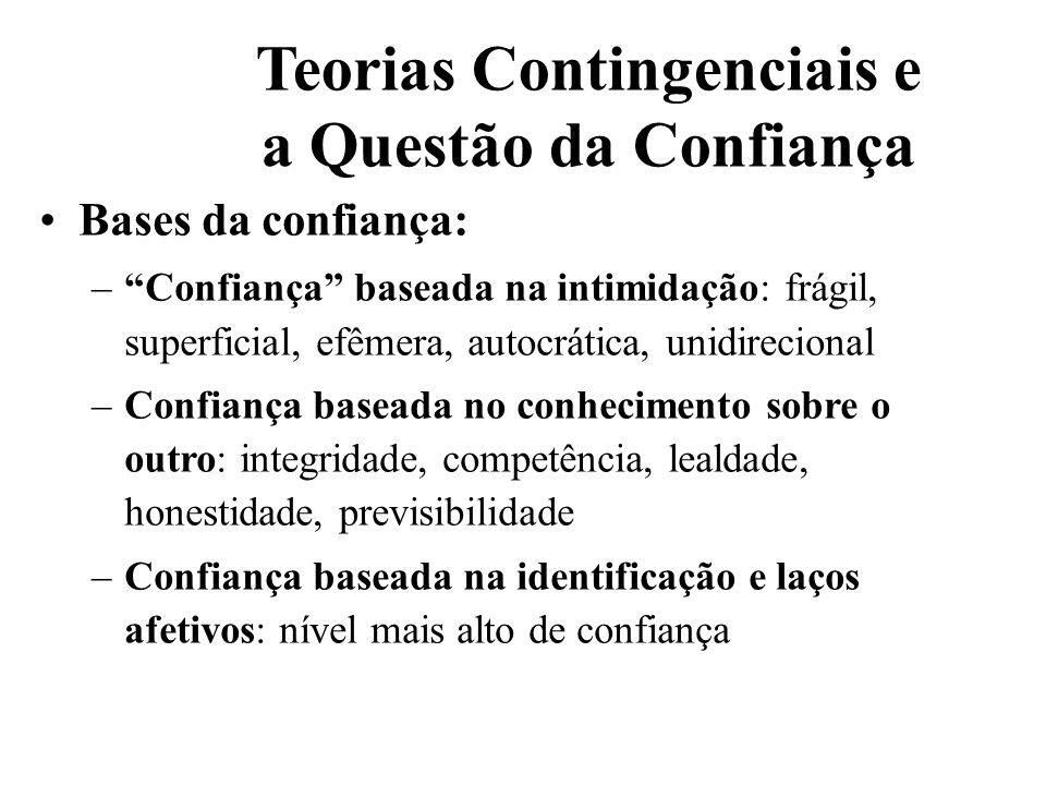 Teorias Contingenciais e a Questão da Confiança