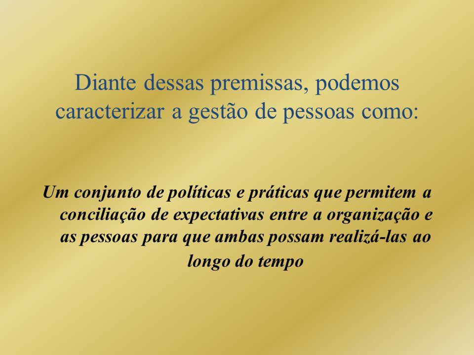 Diante dessas premissas, podemos caracterizar a gestão de pessoas como: