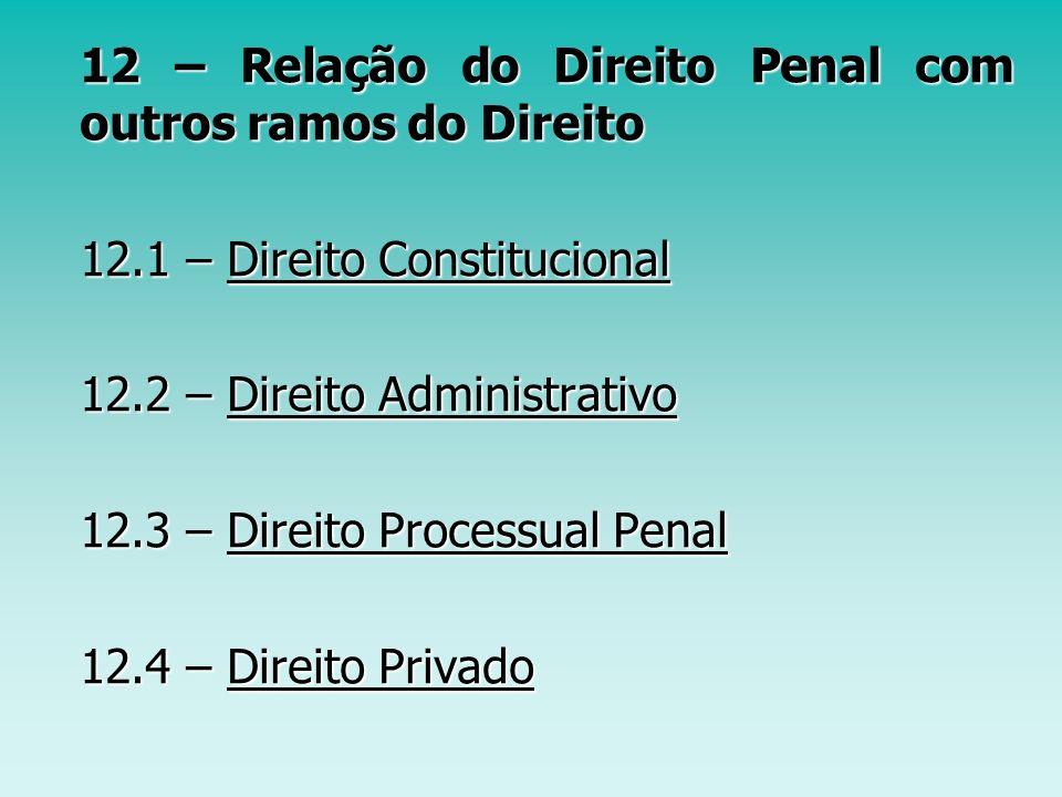 12 – Relação do Direito Penal com outros ramos do Direito