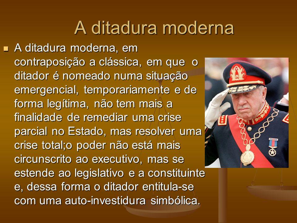 A ditadura moderna