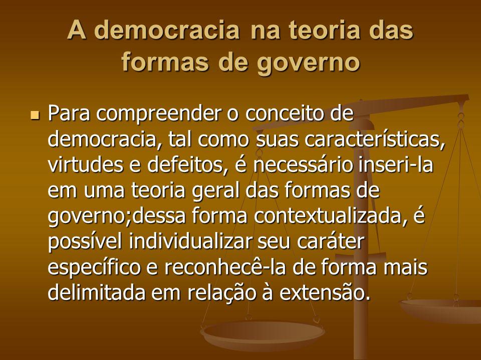 A democracia na teoria das formas de governo