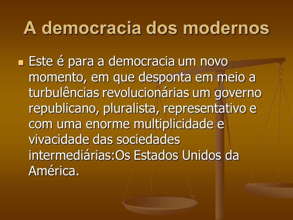 A democracia dos modernos
