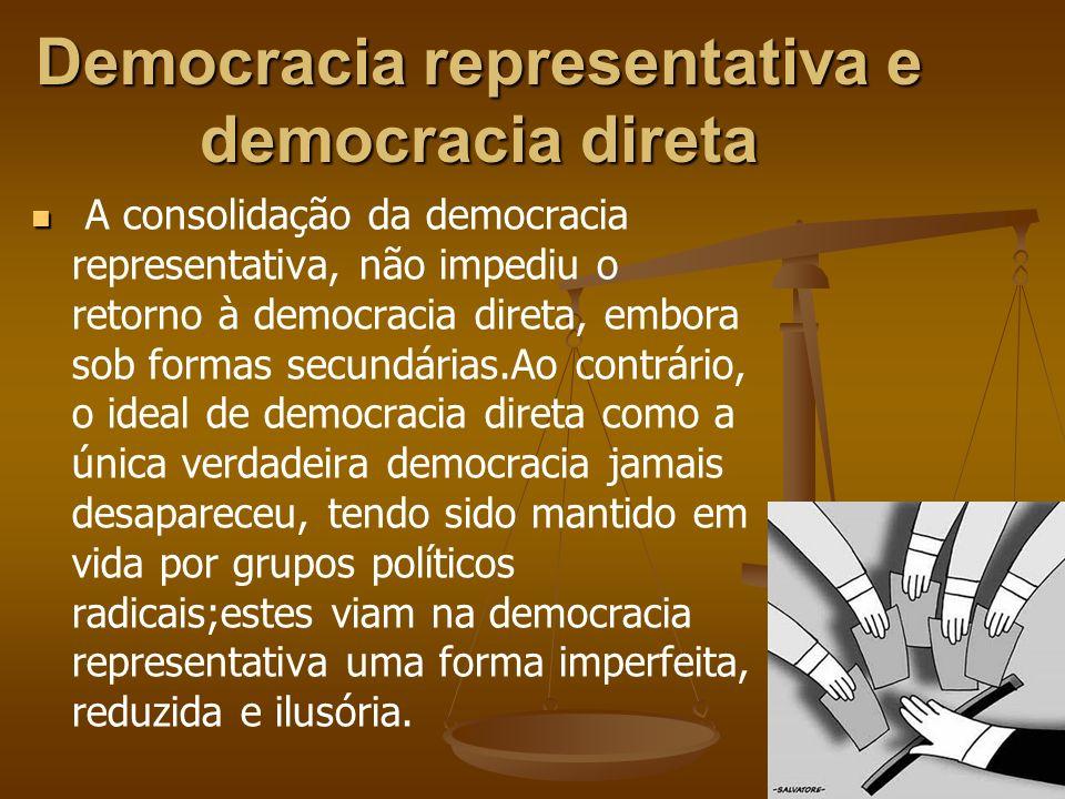 Democracia representativa e democracia direta