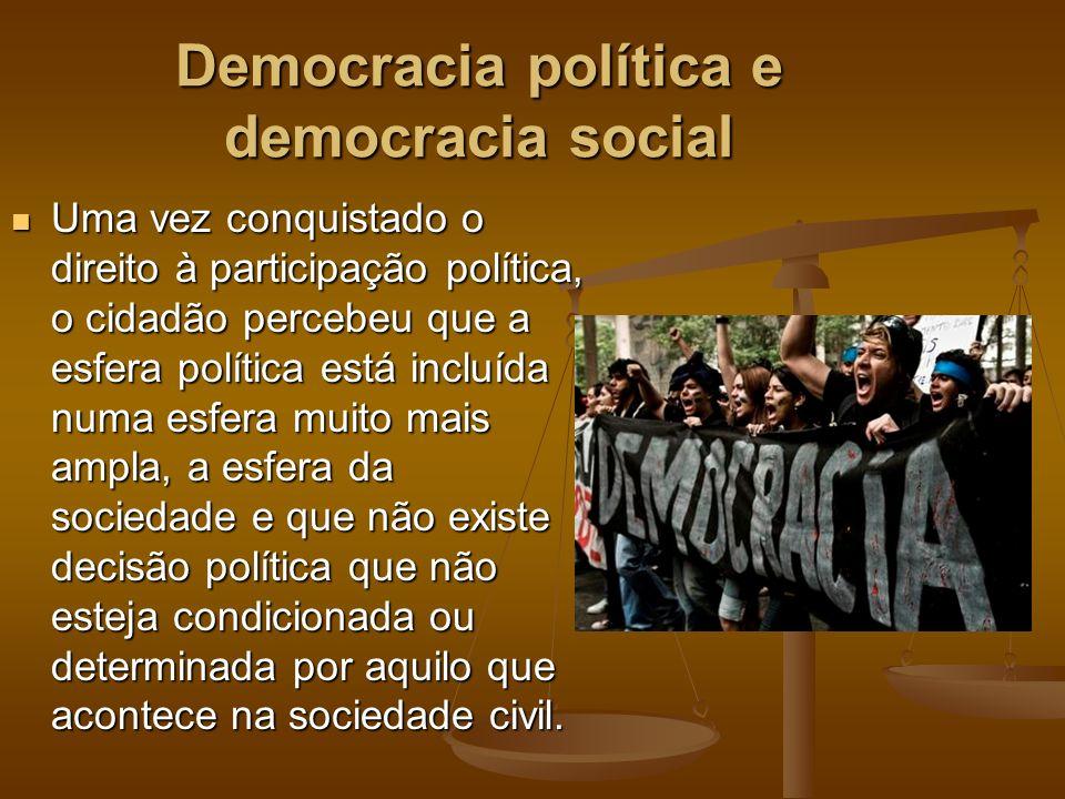 Democracia política e democracia social