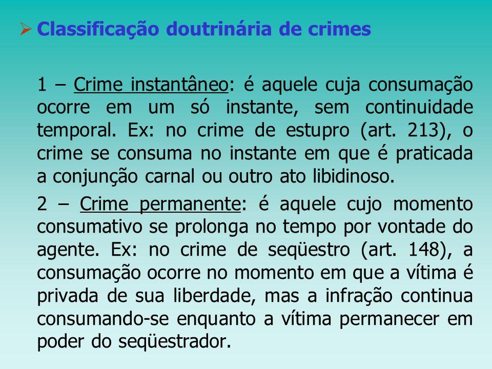 Classificação doutrinária de crimes