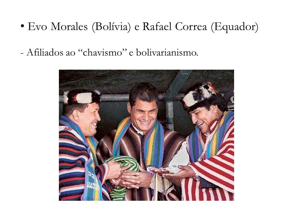 Evo Morales (Bolívia) e Rafael Correa (Equador)