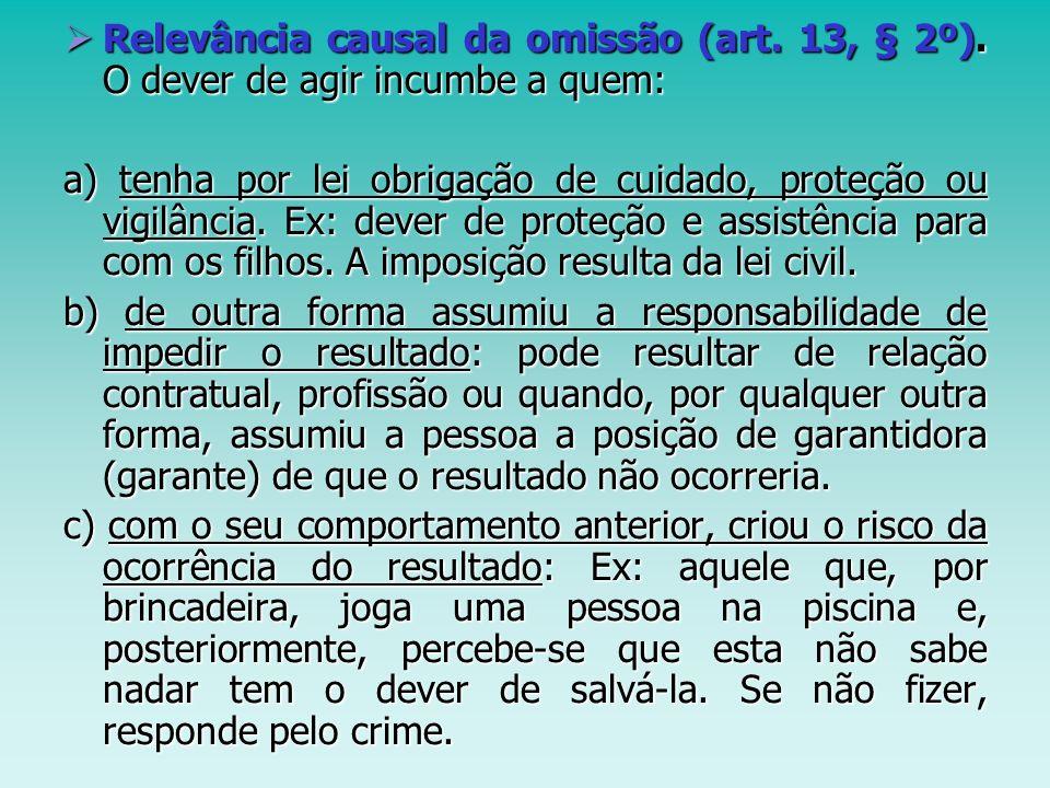 Relevância causal da omissão (art. 13, § 2º)