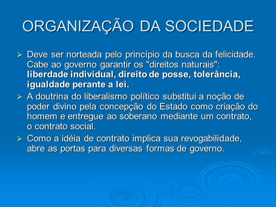ORGANIZAÇÃO DA SOCIEDADE