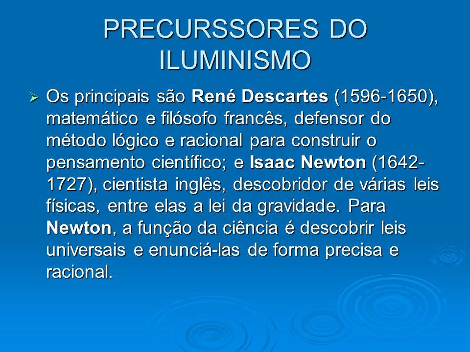 PRECURSSORES DO ILUMINISMO