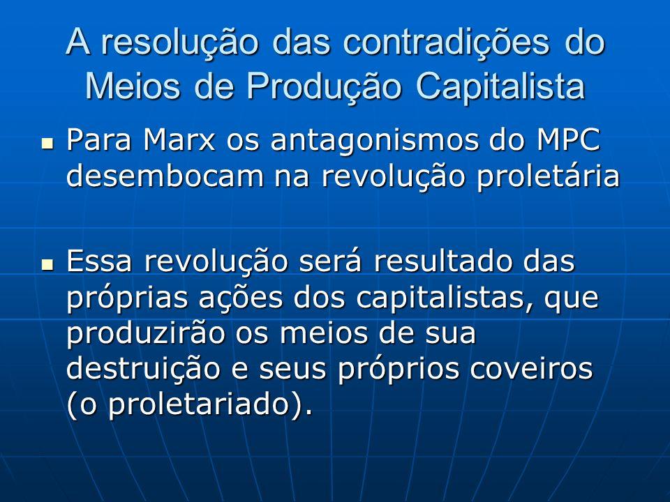 A resolução das contradições do Meios de Produção Capitalista