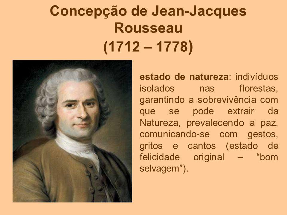 Concepção de Jean-Jacques Rousseau (1712 – 1778)