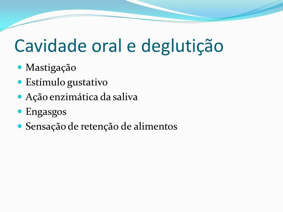 Cavidade oral e deglutição