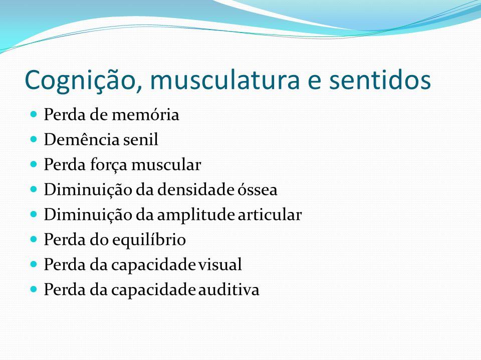 Cognição, musculatura e sentidos