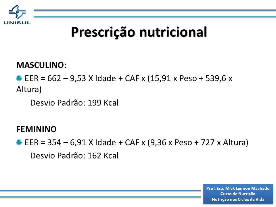 Prescrição nutricional