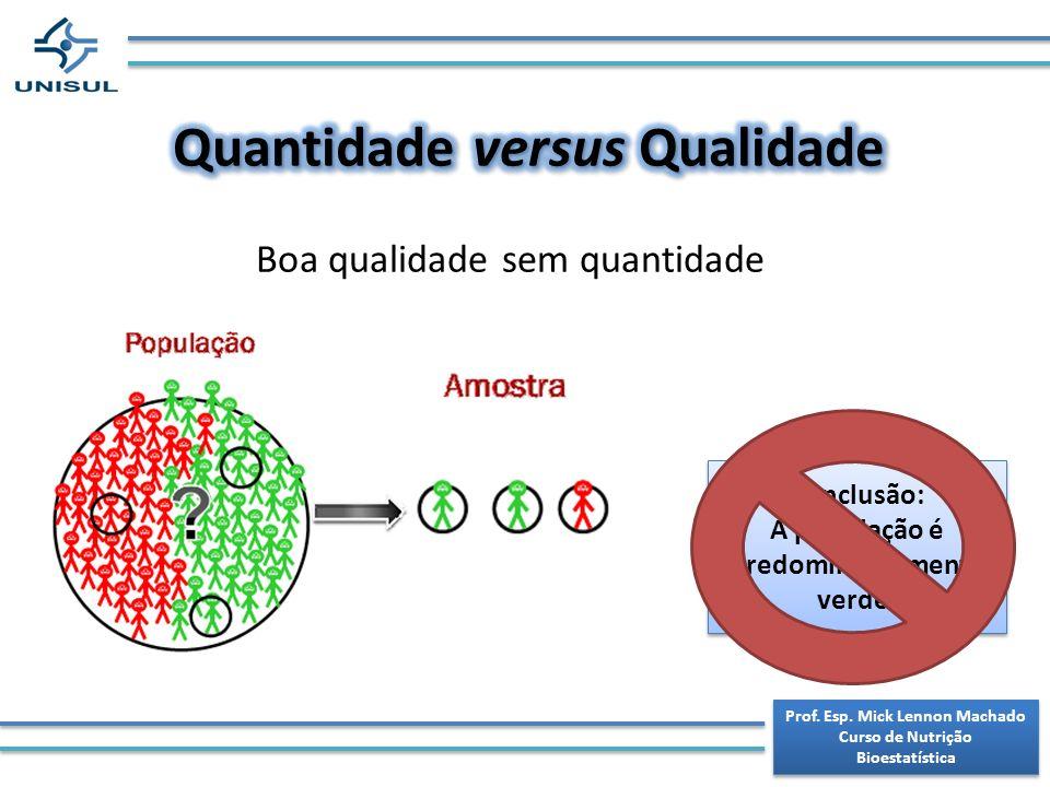 Quantidade versus Qualidade