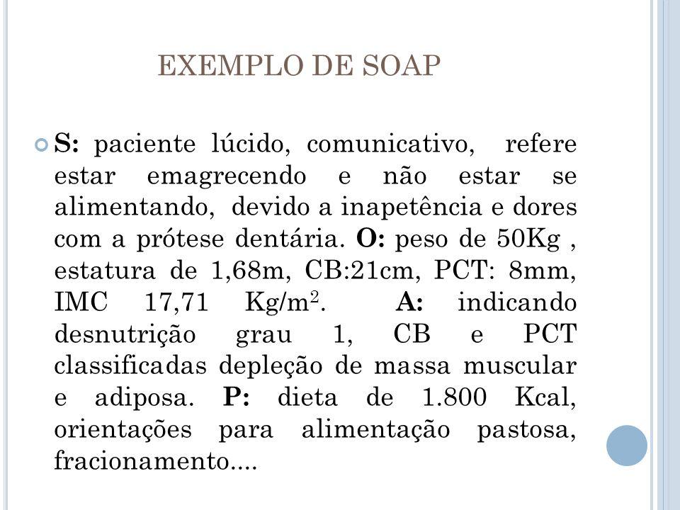 EXEMPLO DE SOAP