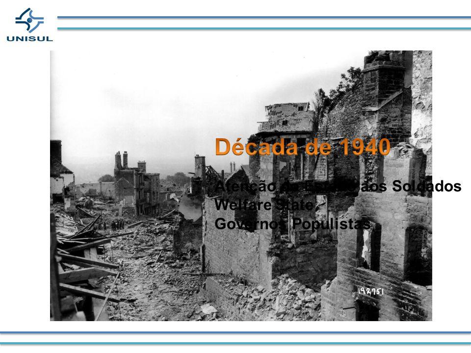 Década de 1940 Atenção do Estado aos Soldados Welfare State