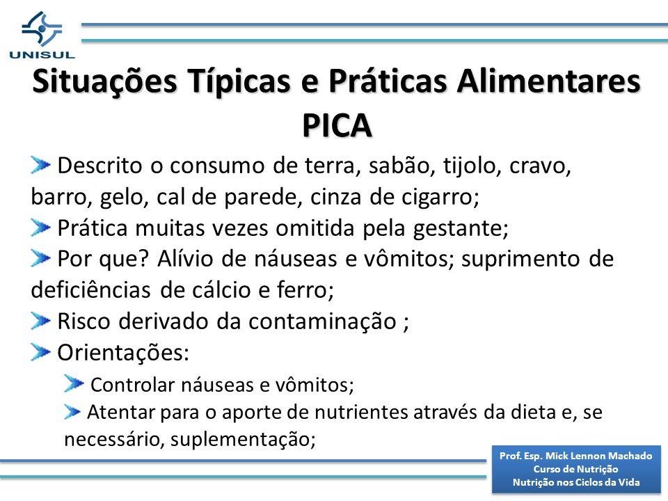 Situações Típicas e Práticas Alimentares PICA