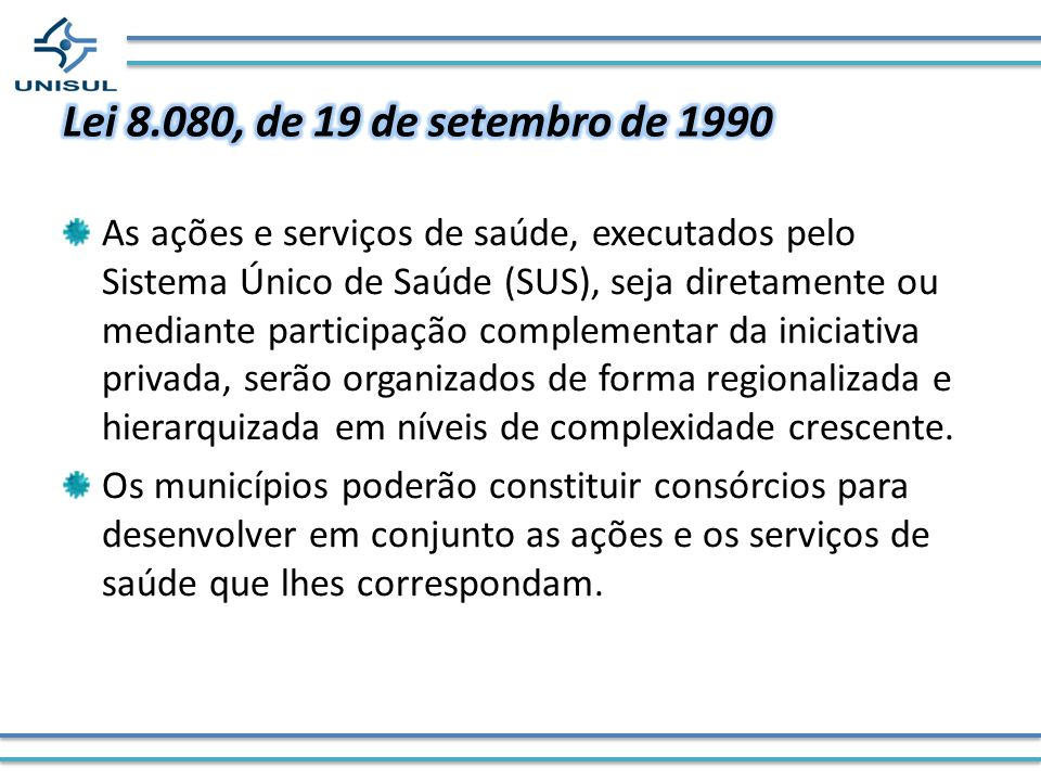 Lei 8.080, de 19 de setembro de 1990