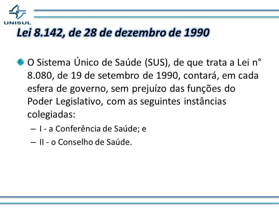 Lei 8.142, de 28 de dezembro de 1990
