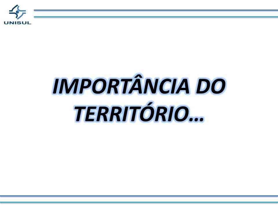 IMPORTÂNCIA DO TERRITÓRIO…