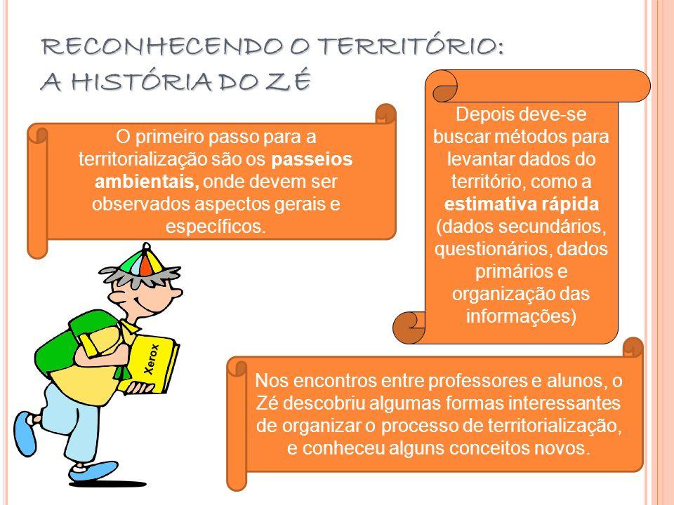 RECONHECENDO O TERRITÓRIO: A HISTÓRIA DO ZÉ