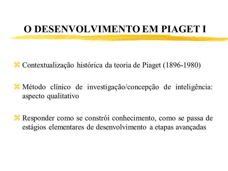 O DESENVOLVIMENTO EM PIAGET I