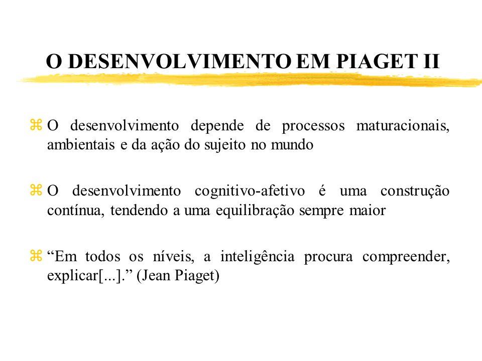 O DESENVOLVIMENTO EM PIAGET II