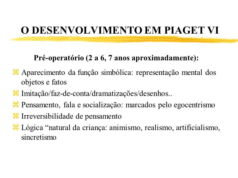 O DESENVOLVIMENTO EM PIAGET VI